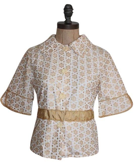 Preload https://img-static.tradesy.com/item/16454479/jaloux-yellow-floral-embroidered-blouse-size-4-s-0-1-650-650.jpg