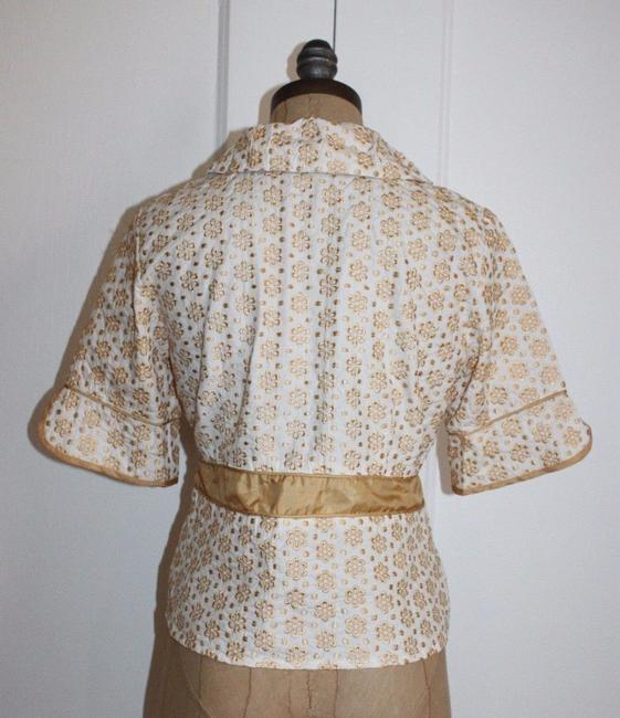 Jaloux Embroidered Floral Top YELLOW