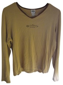 Old Navy Longsleeve T Shirt Beige