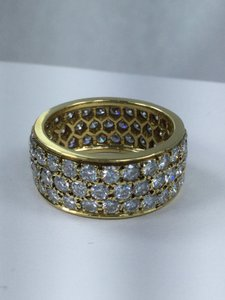 Van Cleef & Arpels Van Cleef & Arpels Vintage 18k Yellow Gold Diamond Eternity Band Ring