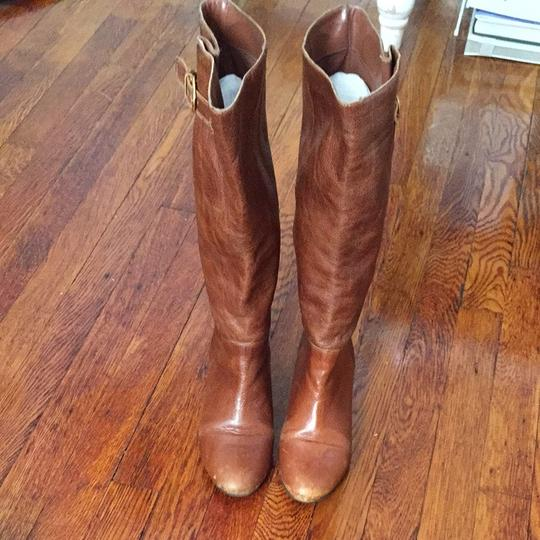 Steven by Steve Madden Cognac Leather Boots