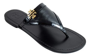 Tory Burch Miller Thong Miller Eloise Black Sandals