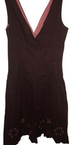 Alyn Paige Sleeveless A-line Career Wood Detail Dress