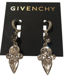Givenchy Swarovski elements rose crystals sets in silver tone dangled earring