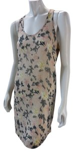 Anthropologie short dress Pink Floral Sleeveless Tank on Tradesy