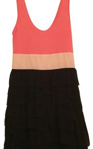 Express short dress Black, Coral, and Light Pink on Tradesy