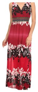Red and black Maxi Dress by Maxi Plus Size