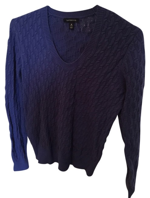 Preload https://item2.tradesy.com/images/lands-end-blue-sweaterpullover-size-10-m-1645556-0-0.jpg?width=400&height=650
