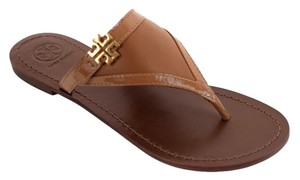 Tory Burch Miller Thong Miller Eloise Royal Tan Sandals