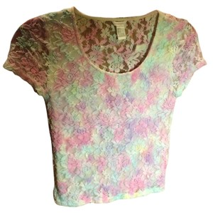 Forever 21 T Shirt lace, pastels