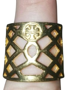Tory Burch Tory burch gold wide band caged ring