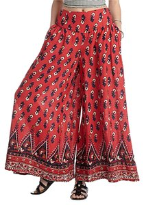 Free People Wide Leg Wide Leg Pants rust multi