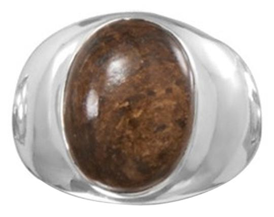 unknown Sterling Silver Oval Bronzite Ring