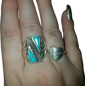 Turquoise sterling silver 925 native style