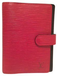 Louis Vuitton K60 LOUIS VUITTON Agenda PM Red Notebook cover Epi Leather Wallet