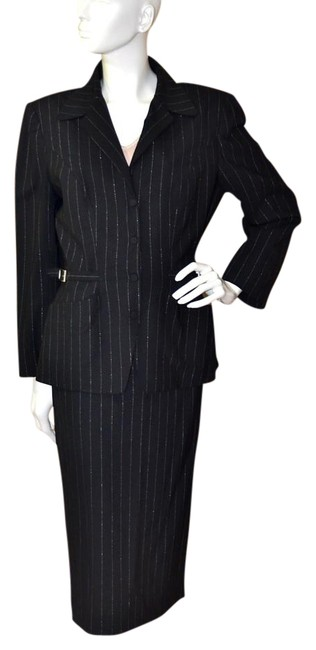 Preload https://img-static.tradesy.com/item/16456603/thierry-mugler-black-wsilver-pinstripes-the-most-amazing-and-beyond-its-time-skirt-suit-size-os-one-0-1-650-650.jpg