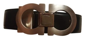 Salvatore Ferragamo big & tall Salvatore Ferragamo doulde gancio reversible leather belt