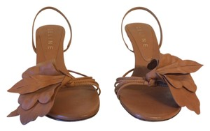 Céline Camel, wooden look heel Sandals