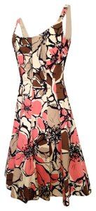 Nine West short dress Coral and Brown Fit Flare on Tradesy