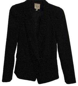 Silence + Noise Shoulder Pads Chic Black Blazer
