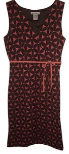 Alexandra Bartlett Brown And Salmon Embroidered Dress