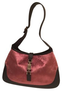 Gucci Vintage Leather Satchel in Pink and black