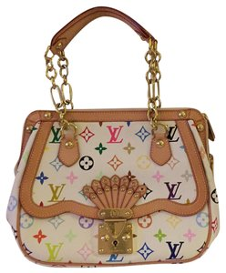 Louis Vuitton Satchel in White W/Multi Colors Of The Louis Vuitton Logo