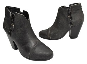 Rag & Bone black CRACKLED leather Boots