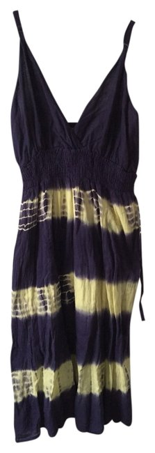 Preload https://item1.tradesy.com/images/indigo-and-yellow-short-casual-dress-size-os-one-size-1645745-0-0.jpg?width=400&height=650