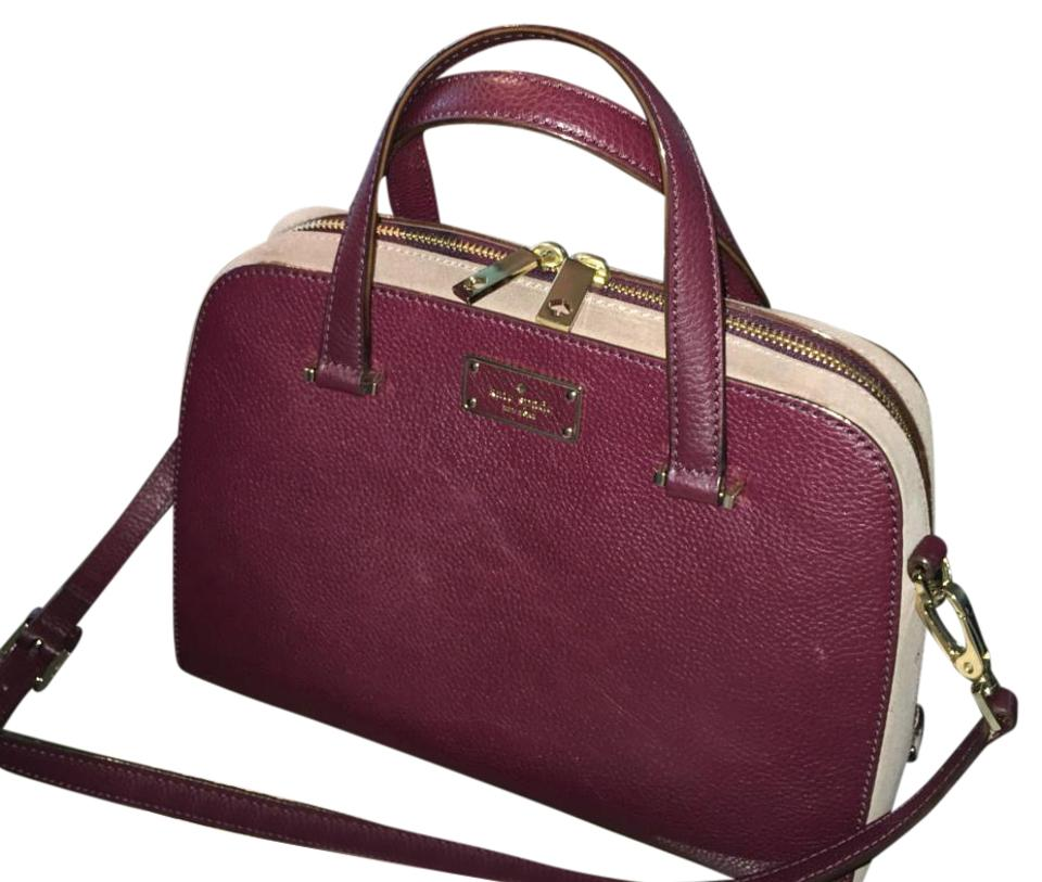80192800539e Kate Spade Felix Burgundy Leather Satchel - Tradesy