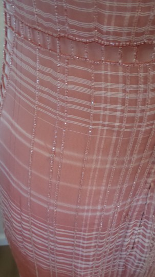 Badgley Mischka Soft Rose/Pink Silk Formal Bridesmaid/Mob Dress Size 6 (S)