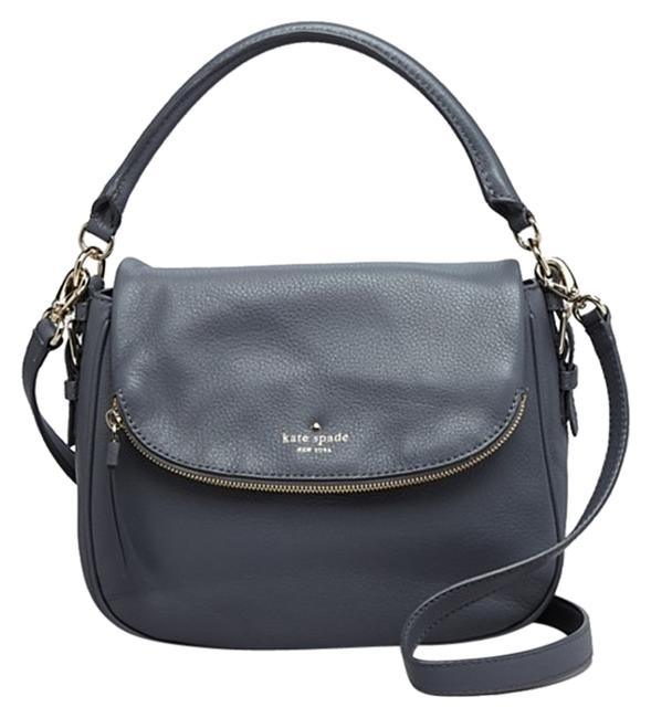 Item - Cobble Hill Small Devin Gray Leather Cross Body Bag