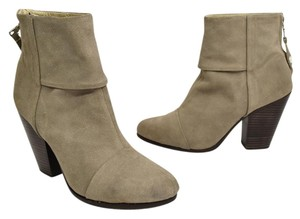 Rag & Bone stone grey WAXED SUEDE leather Boots