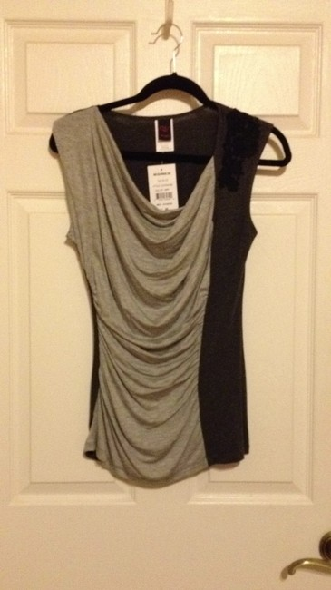Wrapper Top Grey and charcoal