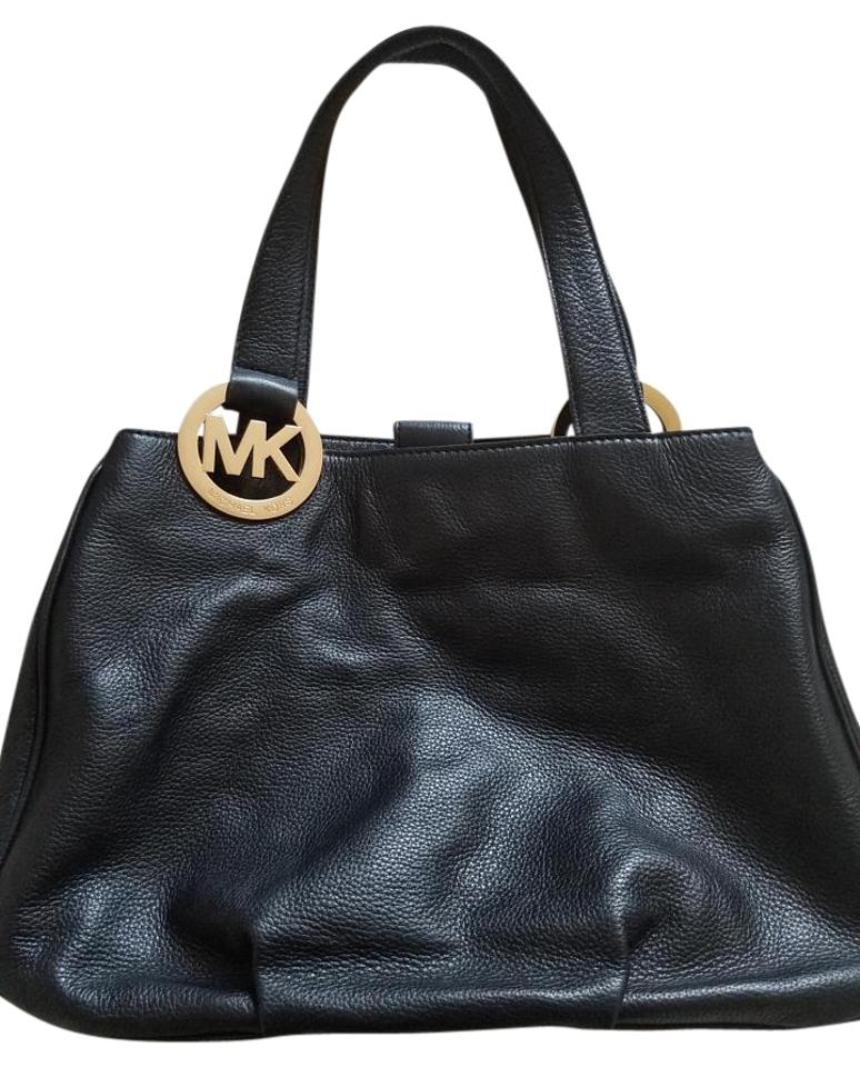 53f9f73557d2 Michael Kors Large Fulton East/West Black Leather Shoulder Bag - Tradesy