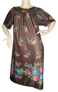 brown w florals Maxi Dress by fashionista