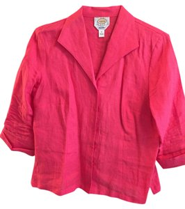Talbots Top Hot pink