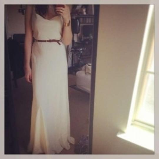 J.Crew Ivory Satin Casual Wedding Dress Size 4 (S)