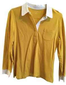 Lands End Button Down Shirt Yellow