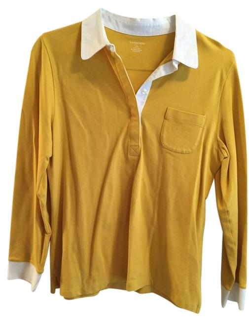 Preload https://img-static.tradesy.com/item/1646007/lands-end-yellow-button-down-top-size-14-l-0-0-650-650.jpg