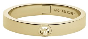 Michael Kors NWT MICHAEL KORS GOLD TONE MK LOGO FULTON HINGED BANGLE MKJ3249710 $115