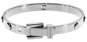 Michael Kors NWT MICHAEL KORS SILVER ASTOR STUD BUCKLE BANGLE BRACELET MKJ1820040
