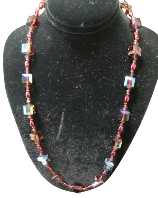 "Item - Garnet/Burgundy Swarovski Crystal Hol153n-17"" (N-4) Garnet/Burgundy Necklace"
