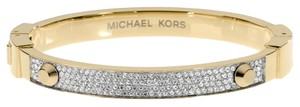 Michael Kors NWT Gold-Tone Crystal Pave Astor Stud Bangle Bracelet MKJ1975710
