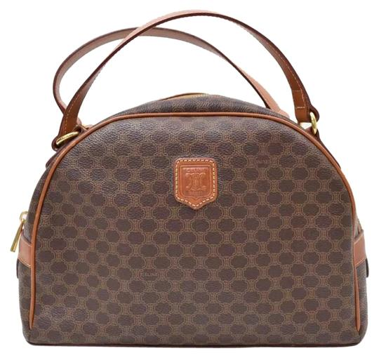 Preload https://img-static.tradesy.com/item/16461112/celine-made-in-italy-mc972-brown-canvas-leather-satchel-0-1-540-540.jpg