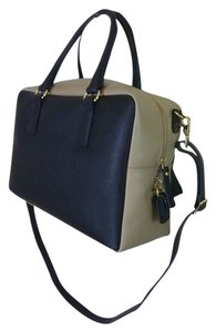 Gianni Notaro Satchel in Black/Beige