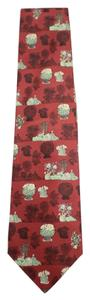 Gianfranco Ferre 100% Pure Silk Flower Pot Illustrated Tie GFTTY01