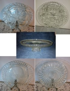 4 Vintage Cake Plates & 1 Platter ~ Great For Dessert Or Cupcake Bar!
