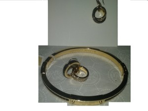 Michael Kors W/BONUS*SET-Montana Baguette Pave Earrings & Crystal Bangle