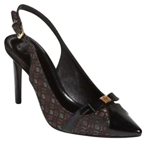 Tory Burch Samara Black/Bronze/Silver Pumps